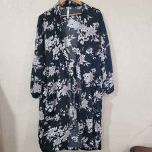 Spiritual Gangster Floral Kimono with Tie One Size